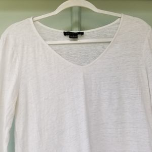 Sanctuary Tops - Sanctuary White Knit Linen Top Blouse w/ Ties M
